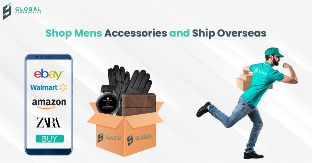 Shop Men's Accessories and Ship Overseas